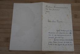 Aalst 1944 Nieuwjaarsbrief St Jozefschool Zusters Franciscanersen Zeldzaam - Historische Dokumente