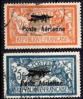 France Poste Aérienne YT N° 1/2 Oblitérés. B/TB. A Saisir! - 1927-1959 Mint/hinged