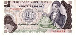 Colombia P.409 20 Pesos 1983  Unc - Colombie