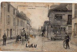DEPT 95 : F M édit. Unal Buraliste : Louvres Entrée Du Village Coté Nord - Louvres