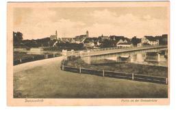 Deutschland - Donauwörth - An Der Donaubrücke - Alte Ansicht 1923 - Nice Stamp Timbre - Donauwoerth