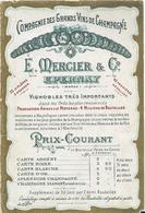 EPERNAY - E.Mercier- Notice Sur La Cie Des Grands Vins De Champagne - Epernay