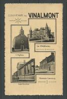 CPA. Souvenir De VINALMONT .L'Eglise / Le Chateau / Les Ecoles / Maison Lecocq. - Wanze