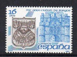 ESPAGNE - SPAIN - 1984 - ANNIVERSAIRE DE LA CITE DE BURGOS - ANNIVERSARY OF THE CITY OF BURGOS - - 1931-Aujourd'hui: II. République - ....Juan Carlos I