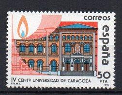 ESPAGNE - SPAIN - 1983 - 100éme ANNIVERSAIRE DE L'UNIVERSITE DE SARAGOSSE - 100th ANNIV. OF THE UNIVERSITY OF SARAGOSSA - 1931-Aujourd'hui: II. République - ....Juan Carlos I