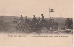 57 - METZ - LE COMMANDANT GENERAL STOETZER AVEC SON STAF - NELS SERIE GRUSS AUS LOTHRINGEN - CARTE RARE - France
