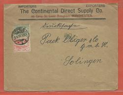 SILESIE LETTRE DE 1922 DE OPPELN POUR SOLINGEN ALLEMAGNE - Autres - Europe