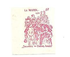 KB1087 - VIGNETTE BONNE ANNEE MAROC 1920 - Maroc (1891-1956)