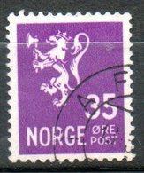 NORVEGE  35o Lilas 1941 N° 232 - Norvège