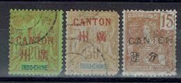Canton - N° 9 - 11 - 38 - Oblitérés - Défectueux - - Usati