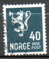 NORVEGE  40overt Gris 1941 N° 233 - Norvège