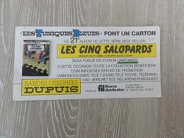 """Carte Pub Parution Sortie Album """"tuniques Bleus"""" - Cartes Postales"""