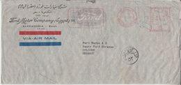 Ägypten - 42 M. AFS Luftpostbrief Ford Motor Company Alexandria - Köln 1950 - Ägypten