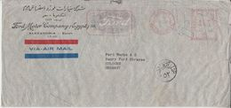 Ägypten - 42 M. AFS Luftpostbrief Ford Motor Company Alexandria - Köln 1950 - Égypte