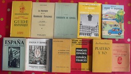 Lot De 11 Livres Scolaires Ou Pédagogiques En Espagnol. Espana. Espagne. Entre 1936 Et 1964 - Libros, Revistas, Cómics