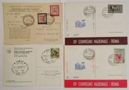 LOTTO 4 CARTOLINE MANIFESTAZIONI ITALIA FRANCOBOLLO CON ANNULLO SPECIALE (TY1143 - 1946-.. République