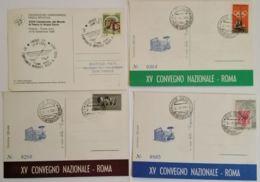 LOTTO 4 CARTOLINE MANIFESTAZIONI ITALIA FRANCOBOLLO CON ANNULLO SPECIALE (TY1144 - 1946-.. République