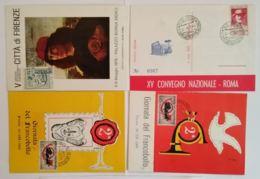 LOTTO 4 CARTOLINE MANIFESTAZIONI ITALIA FRANCOBOLLO CON ANNULLO SPECIALE (TY1146 - 1946-.. République