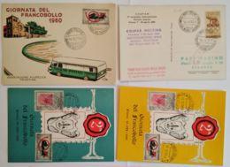 LOTTO 4 CARTOLINE MANIFESTAZIONI ITALIA FRANCOBOLLO CON ANNULLO SPECIALE (TY1147 - 1946-.. République