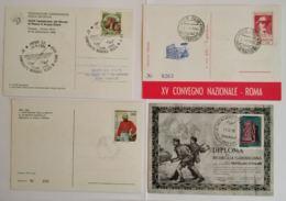 LOTTO 4 CARTOLINE MANIFESTAZIONI ITALIA FRANCOBOLLO CON ANNULLO SPECIALE (TY1148 - 1946-.. République