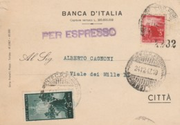LETTERA 1947 3+25 LIRE ESPRESSO BANCA D'ITALIA  (TY1219 - 1946-.. Republiek
