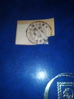Cachet Pointillé 1912 Sur Fragment  1 C BLANC   GRIS DAMIGNY Orne - Poststempel (Einzelmarken)