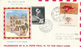 BUSTA VIAGGIO PAPA IN ISRAELE 1964 -AFFRANCATO ISRAELE VATICANO (TY1231 - Storia Postale