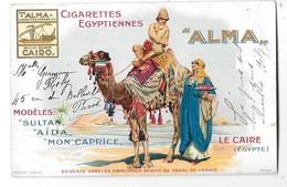 ALMA --Cigarettes Egyptiennes Alma -Carte Publicitaire - Publicidad