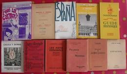 Lot De 11 Livres Scolaires Ou Pédagogiques En Espagnol. Espana. Espagne. Entre 1897 Et 1968 - Libros, Revistas, Cómics