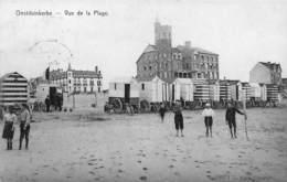 Oostduinkerke - Vue De La Plage (animée, Edit Gauquié 1910) - Oostduinkerke