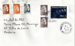 Bi-Centenaire 1819-2019 ESCP Business School, Lettre Adressée Andorra, Avec Timbre à Date Arrivée - France