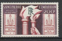 SAINT PIERRE ET MIQUELON POSTE AERIENNE 1959 YT N° PA 26 ** - Poste Aérienne
