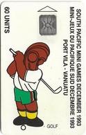 Vanuatu - South Pacific Mini Games, Golf, SC5, Cn. C3A000601, 60U, 10.93, 3.000ex, Used - Vanuatu