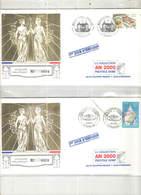 Francia 2001 FDC Besancon Scott.2814+See Scan Album Collection Prestige Dorè; - FDC