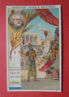 CHROMO. Guérin-Boutron. Compositeurs De MUSIQUE.  VERDI.  AÏDA.  En Egypte. Temple. Pharaon. Reine - Cromo