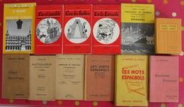 Lot De 12 Livres Scolaires Ou Pédagogiques En Espagnol. Espana. Espagne. Entre 1909 Et 1969 - Libros, Revistas, Cómics
