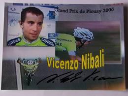 Vicenzo NIBALI - Signé / Hand Signed / Dédicace Authentique / Autographe - Cycling