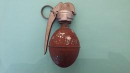 Grenade à Main OF1 Modèle 1915 D'instruction Avec Bouchon Allumeur Automatique BR24 Belge - Decorative Weapons