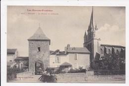 CP 65 GALAN La Porte Et L'église - Galan