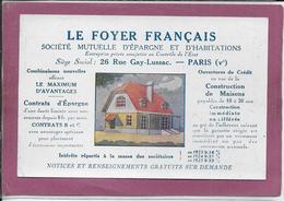 LE FOYER FRANÇAIS   Société Mutuelle D' Epargne  Carte Adressée à HUGELSCHMIT  à Besançon - Publicidad