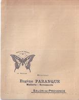"""EUGENE PARANQUE - """"MACHAON"""" HUILERIE SAVONNERIE -SALON DE PROVENCE - Bulletin De Commande - Perfumería & Droguería"""