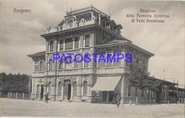 130758 ITALY BERGAMO STATION TRAIN OF VALLE BREMBANA POSTAL POSTCARD - Italia