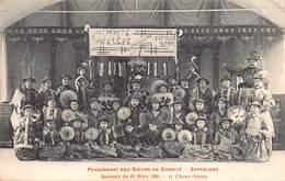 Zaffelare Lochristi  Pensionnat Des Soeurs De Charité Souvernir Du 19/3/1908      M 2096 - Lochristi