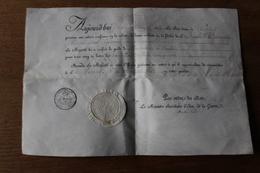 Diplôme Noblesse Sur Velin  Autographe Duc De Feltre  Pour Gendarme Garde Royale Lieutenant De Cavalerie - Documentos Históricos