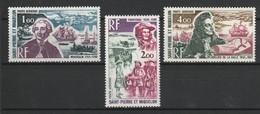SAINT PIERRE ET MIQUELON POSTE AERIENNE 1973 YT N° PA 54 à 56 * - Poste Aérienne