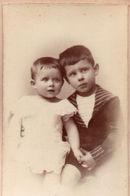 Photo CDV Jeunes Enfants Albert Baron. Douai 1880 - Ancianas (antes De 1900)