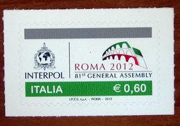 2012 ITALIA 81ª Assemblea Generale Dell'interpol _ 0,60 -    Nuovo - 6. 1946-.. Repubblica