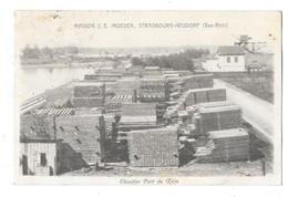 STRASBOURG NEUDORF (67) Carte Publicitaire Maison Moeder Commerce De Bois Chantier Port Du Rhin - Strasbourg