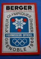 ÉTIQUETTE BERGER SIROP DE LUXE Xé JEUX OLYMPIQUES D'HIVER DE GRENOBLE 1968-Publicité STICKER PUBLICITAIRE - Winter Sports