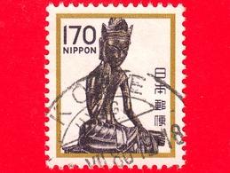 GIAPPONE - Usato - 1981 - Sculture - UNESCO Patrimonio Mondiale Dell'Umanità - Miroko Bosatsu - 170 - Used Stamps